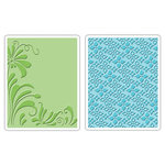 Sizzix - Textured Impressions - Embossing Folders - Flowers and Flourish Set