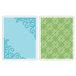 Sizzix - Textured Impressions - Embossing Folders - Corners and Lattice Set