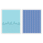 Sizzix - Textured Impressions - Embossing Folders - Flourish, Dots and Ribbon Set