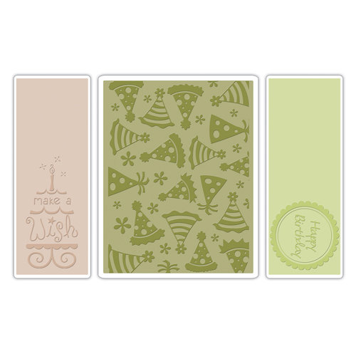 Sizzix - Textured Impressions - Embossing Folders - Birthday Set 5