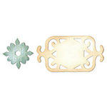 Sizzix - Originals Die - Jewelry - Die Cutting Template - Medium - Frame and Medallion