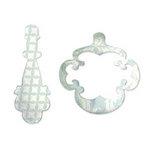 Sizzix - Originals Die - Jewelry - Die Cutting Template - Medium - Frame and Pendant