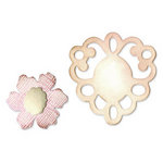Sizzix - Originals Die - Jewelry - Die Cutting Template - Medium - Frame and Sculpted Flower