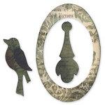 Sizzix - Originals Die - Jewelry - Die Cutting Template - Medium - Oval Frame, Bird and Pendant