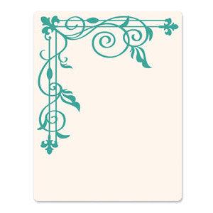 Sizzix - Ink-Its Collection - Letterpress Plate - Corner Trellis