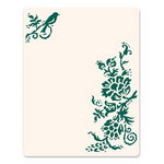 Sizzix - Ink-Its Collection - Letterpress Plate - Rustic Elegant Flowers