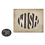 Sizzix - Tim Holtz - Movers and Shapers Die - Alterations Collection - Die Cutting Template - Wish