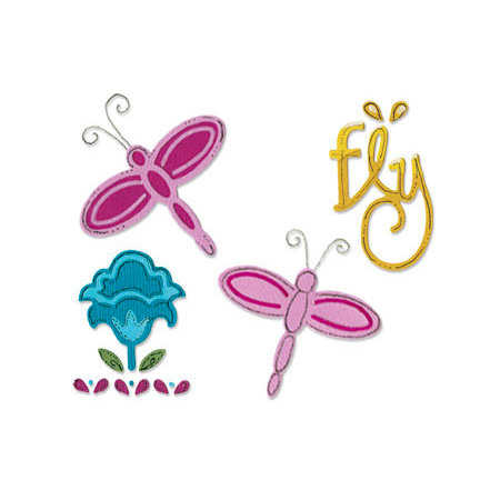 Sizzix - Sizzlits Die - Stationery Collection - Die Cutting Template - Small - Dragonfly Set