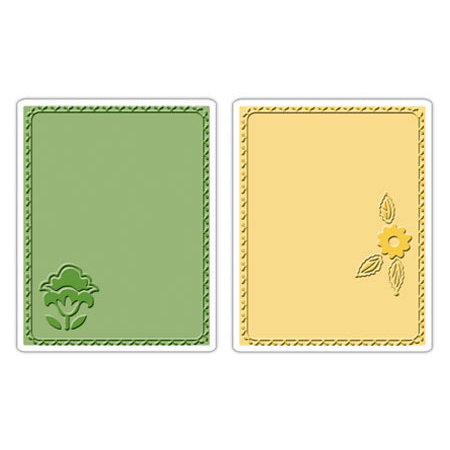 Sizzix - Textured Impressions - Stationery Collection - Embossing Folders - Folksy Fun Posey Set