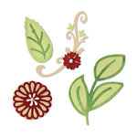 Sizzix - Country Foliage Collection - Sizzlits Die - Medium - Floral Botanical Set