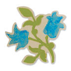 Sizzix - Embosslits Die - Country Foliage Collection - Die Cutting Template - Small - Flowering Foliage