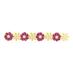 Sizzix - Sizzlits Decorative Strip Die - Country Foliage Collection - Die Cutting Template - Windmill Daisies