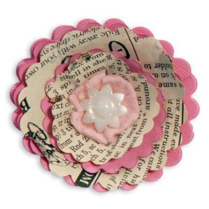 Sizzix - Fresh Vintage Collection - Bigz Die - Flower, 3-D Wrapped