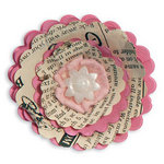 Sizzix - Bigz Die - Fresh Vintage Collection - Die Cutting Template - Flower, 3-D Wrapped