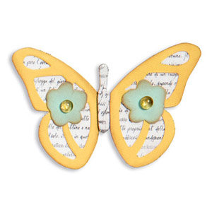 Sizzix - Fresh Vintage Collection - ScoreBoards Die - Butterfly