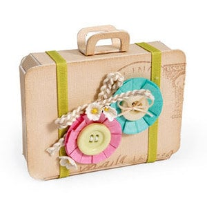 Sizzix - ScoreBoards Die - Fresh Vintage Collection - Extra Long Die Cutting Template - Bag, Suitcase