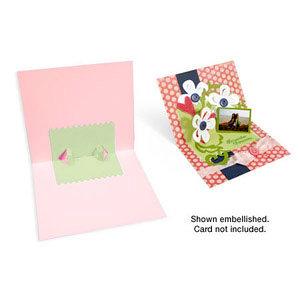 Sizzix - Bigz Die - Party Essentials Collection - Die Cutting Template - 3-D Pop Up - Card, Zig Zag