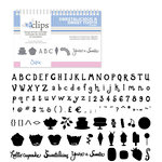 Sizzix - EClips - Electronic Shape Cutting System - Cartridge - Sweetalicious and Sweet Tooth Alphabet