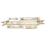 Sizzix - Tim Holtz - Sizzlits Decorative Strip Die - Alterations Collection - Die Cutting Template - Tattered Banners