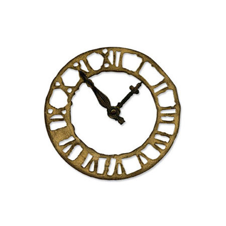 Sizzix - Tim Holtz - Bigz Die - Alterations Collection - Die Cutting Template - Weathered Clock