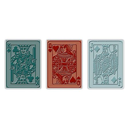 Sizzix - Tim Holtz - Texture Trades - Alterations Collection - Embossing Folders - Poker Face Set