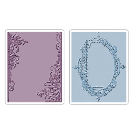 Sizzix Tim Holtz Fancy and Floral Frames Set Embossing Folders