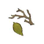 Sizzix - Tim Holtz - Movers and Shapers Die - Alterations Collection - Die Cutting Template - Mini Branch and Leaf Set