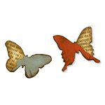 Sizzix - Tim Holtz - Movers and Shapers Die - Alterations Collection - Die Cutting Template - Mini Butterflies Set