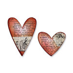 Sizzix - Tim Holtz - Movers and Shapers Die - Alterations Collection - Die Cutting Template - Mini Hearts Set