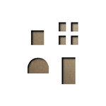 Sizzix - Tim Holtz - Alterations Collection - Movers and Shapers Die - Mini Openings Set