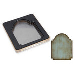Sizzix - Tim Holtz - Movers and Shapers Die - Alterations Collection - Die Cutting Template - Vintage Cabinet Card