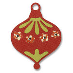 Sizzix - Basic Grey - Sizzlits Die - Figgy Pudding Collection - Die Cutting Template - Small - Ornament with Flowers