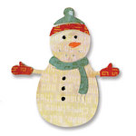 Sizzix - Basic Grey - Sizzlits Die - Figgy Pudding Collection - Die Cutting Template - Small - Snowman 7
