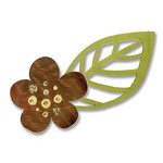 Sizzix - BasicGrey - Figgy Pudding Collection - Sizzlits Die - Medium - Flower and Leaf 5