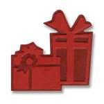 Sizzix - BasicGrey - Figgy Pudding Collection - Embosslits Die - Christmas - Small - Gifts 2