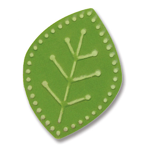 Sizzix - BasicGrey - Figgy Pudding Collection - Embosslits Die - Small - Leaf