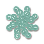 Sizzix - Basic Grey - Embosslits Die - Figgy Pudding Collection - Die Cutting Template - Small - Ornament Swirly