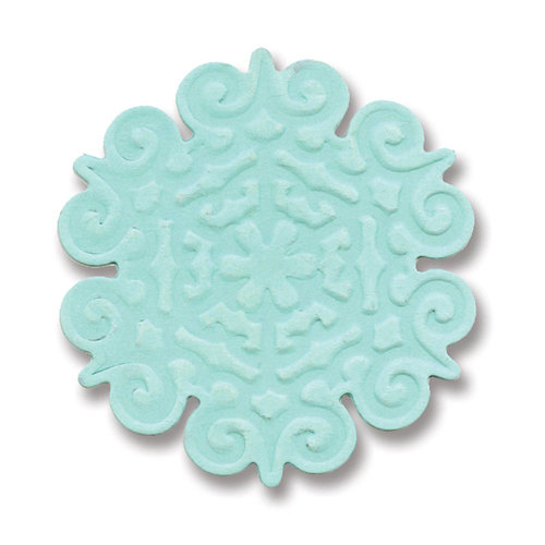 Sizzix - BasicGrey - Figgy Pudding Collection - Embosslits Die - Christmas - Small - Snowflake 2