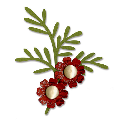 Sizzix - BasicGrey - Bigz Die - Branch with Leaves and Flower