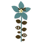 Sizzix - BasicGrey - Figgy Pudding Collection - Bigz Die - Flower, Leaves and Stem 4