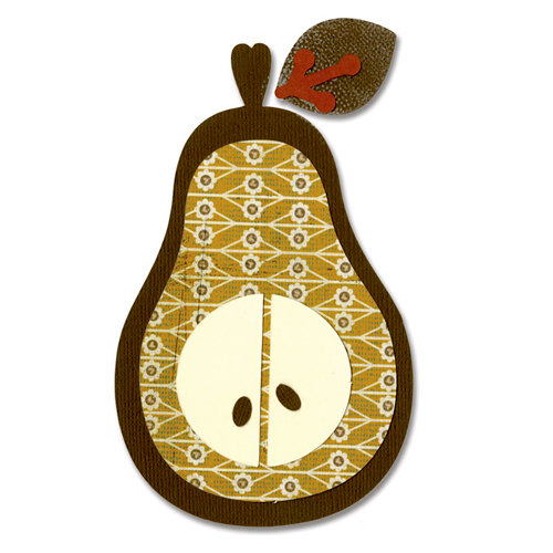 Sizzix - Basic Grey - Bigz Die - Figgy Pudding Collection - Die Cutting Template - Pear