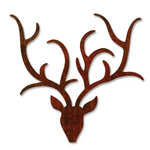 Sizzix - BasicGrey - Figgy Pudding Collection - Bigz Die - Reindeer with Antlers