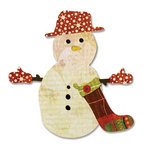 Sizzix - Basic Grey - Bigz Die - Figgy Pudding Collection - Die Cutting Template - Snowman and Stocking