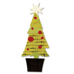 Sizzix - Basic Grey - Bigz Die - Figgy Pudding Collection - Die Cutting Template - Tree, Christmas Layered