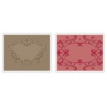 Sizzix - Textured Impressions - Embossing Folders - Heart and Ornate Frames Set