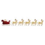 Sizzix - Sizzlits Decorative Strip Die - Die Cutting Template - Santa Sleigh with Reindeer