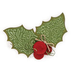 Sizzix - Bigz Die and Embossing Folder - Christmas - Holly and Berries 2