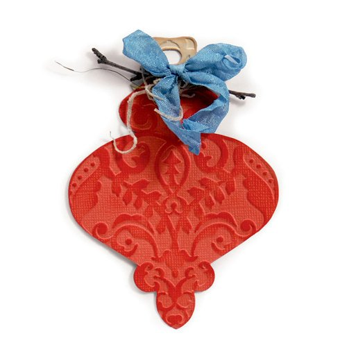 Sizzix - Bigz Die and Embossing Folder - Christmas - Ornament 5