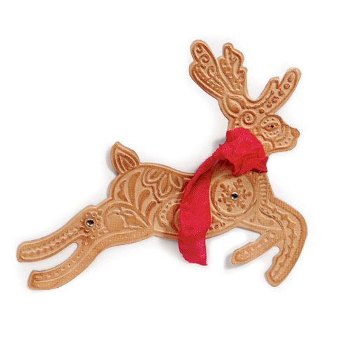 Sizzix - Bigz Die and Embossing Folder - Christmas - Reindeer 2