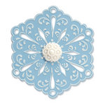 Sizzix - Bigz Die and Embossing Folder - Christmas - Snowflake 4